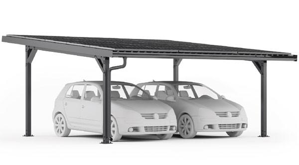 Carport photovoltaïque E-Port Home Double