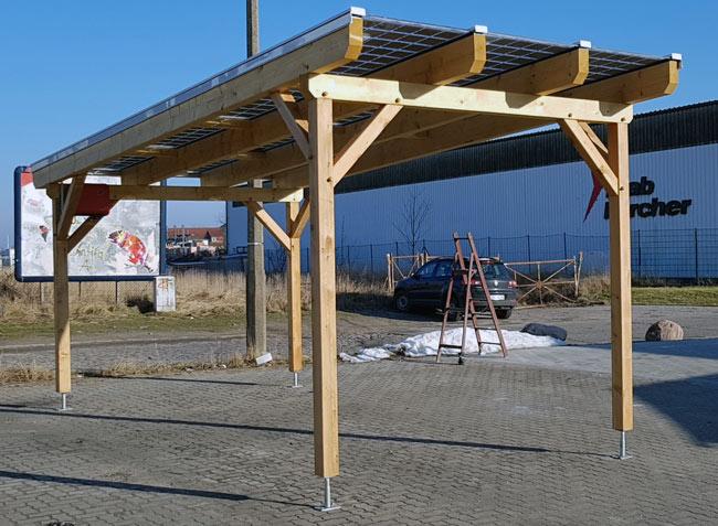 Carport photovoltaïque bois Aleo